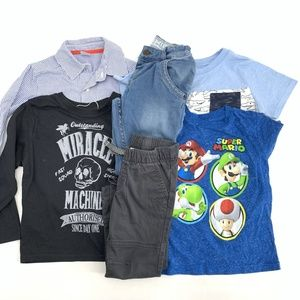 Boys Toddler Lot Size 4T Shirts and Pants Jeans